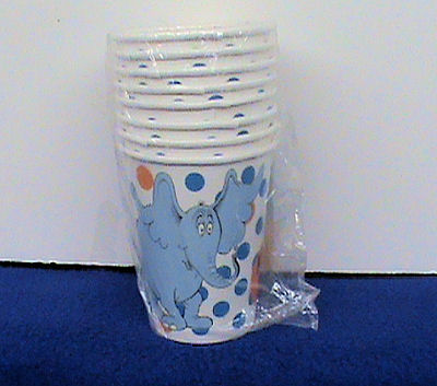 Dr Seuss Horton Hears a Who Baby Shower or Kids' Birthday Party Cups