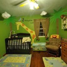 John Lennon Real Love wild animal giraffe jungle baby boy nursery