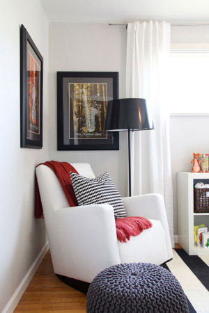 Alto Nursery Rocker by Monte flanked by Dave Matthews Band posters