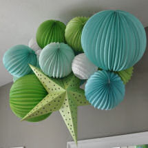 Lime green baby blue and white boy nursery theme ideas