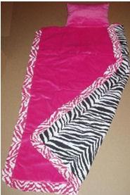 custom black and white ruffled zebra print nap mat for my little diva girl