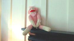 Pink sock baby girl nursery crib bedding and decor