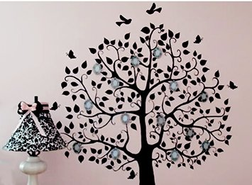 My hand painted family tree wall art.