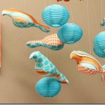 Aqua blue white and orange baby boy muscle car nursery theme