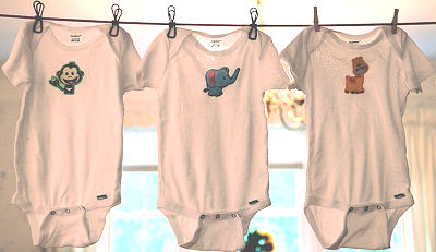 Baby Onesie Clothesline for the Shower