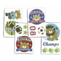Baby boy jungle sports nursery wall decals