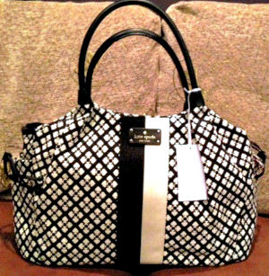 Fab black and white cream Kate Spade