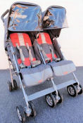 Mia Moda Facile Lightweight Umbrella Travel Baby Stroller in Aqua Blue