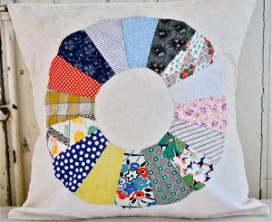 Large vintage heirloom quilt pillow