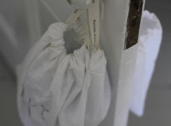 handmade homemade rustic French country shabby chic fabric nursery drawstring bags