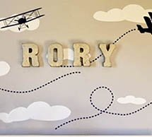 DIY craft project metal wall letters