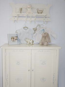 DIY painted vintage baby dresser changing table