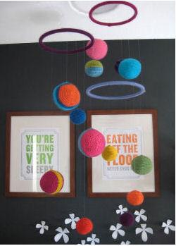 DIY homemade planets baby nursery crib ceiling mobile