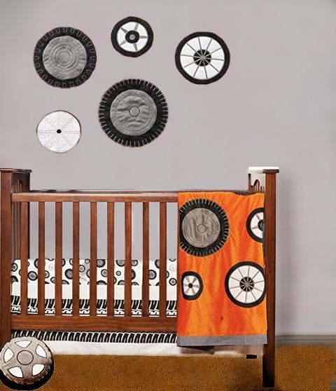 NASCAR racing baby nursery theme decorating ideas.  Baby race car nursery ideas.