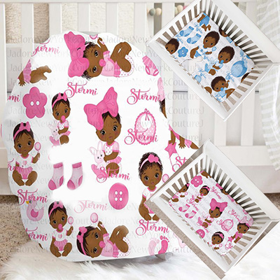 African American baby girl crib bedding and twin comforter sets in fabrics with ethnic print