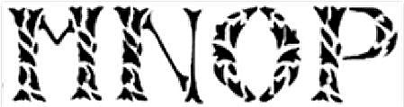 Leaf alphabet font letters stencil pattern
