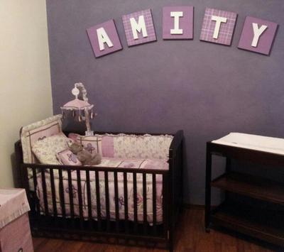 My baby girl's nursery was decorated using ideas that I Googled and combined to create a dream come true.