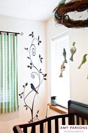 Bird themed vinyl nursery wall decals