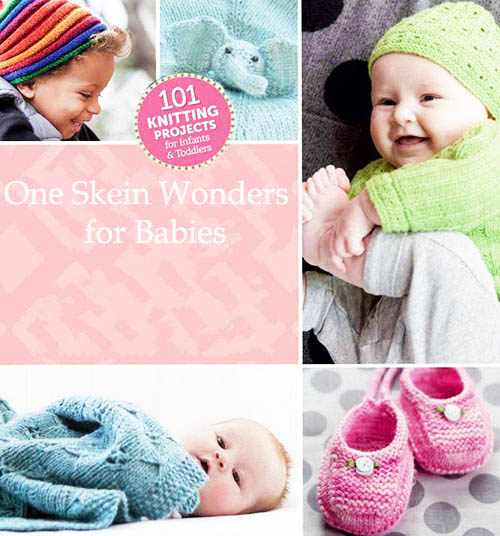 A collection of fast and easy quick knit baby knitting patterns that require less than one skein of yarn.