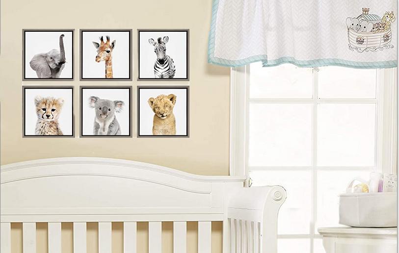 noah noahs ark baby nursery crib bedding set quilt applique animals