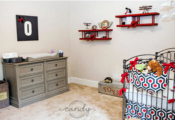 Baby Boy Airplane Nursery Design With Snoopy Themed Decor