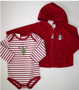 baby boy first christmas clothes outfits outfit gymboree red jacket onesie