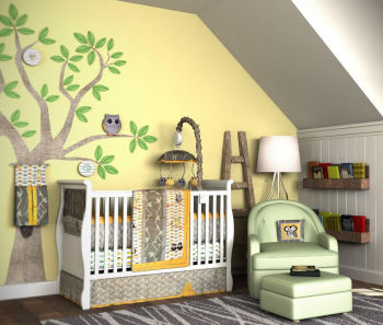 Owl nursery design ideas for a baby boy a baby girl or neutral in yellow and green