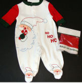 baby first christmas clothes outfits outfit santa claus sleeper footed