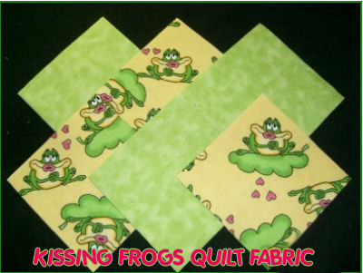 baby frog print quilt quilting cotton flannel fabric fabrics prince princess