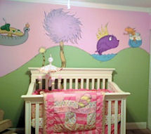 Pink baby girl Dr Seuss Nursery Ideas Oh the places you'll go why fit in when you were born to stand out