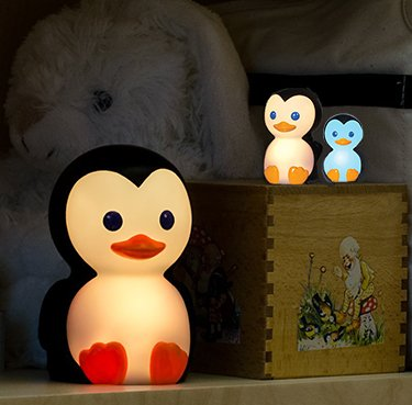 Baby penguin nursery night light that changes colors