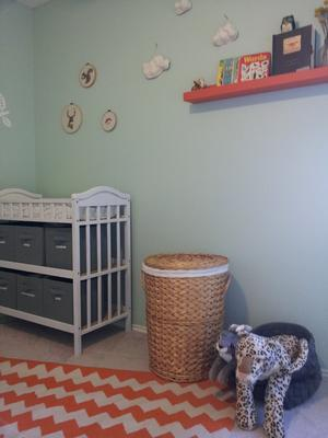 Corner of my baby boy's vintage modern nursery