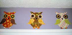 baby owl nursery wall border