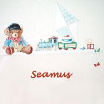A baby boy teddy bear theme nursery room