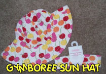 baby girls gymboree cherry cherries sun protection hat