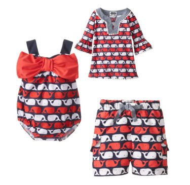 baby swimsuits for baby girls and boys with whales