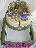 baby winnie the pooh green round baby walker jumper