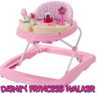 baby girls pink disney princess baby walker jumper