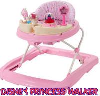 baby girls pink disney princess baby walker jumper