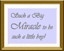 Sweet inspirational baby boy Christian miracle quote