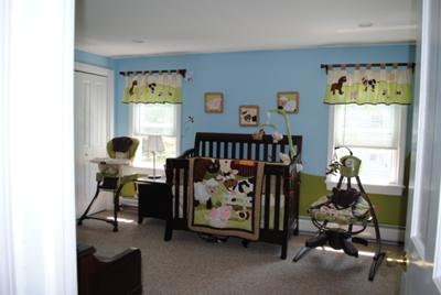 Barnyard Baby Bedding, Crib and Window Valances