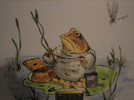 Jeremy Fisher the frog character in Beatrix Potter books