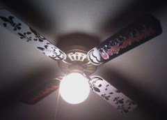 Custom Grafitti Ceiling Fan Personalized with Our Baby Boy's Name and Fleur Di Li Graphics