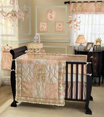 Little princess nursery ideas in pink and brown