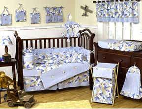 Blue Camouflage Baby Nursery Bedding Design - Blue Camo Crib Set for a Hunting, Fishing Baby Boy Nursery