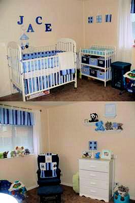 Baby Jace's Blue Elephant Nursery