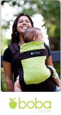 Boba Organic Baby Carrier in Pine.  A beautiful, lightweight, highly rated brown and green carrier.