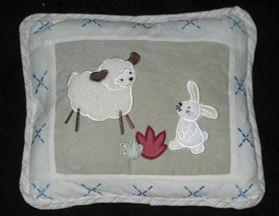 applique bunny little lamb baby crib quilt pillow nursery