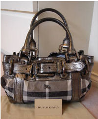 burberry baby diaper bag benton plaid metallic nickle diaper tote boy girl