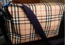 burberry diaper bag baby diaper tote plaid nova checks boy girl